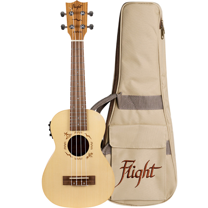 Flight DUC525 EQ SP/ZEB Electro-Acoustic Concert Ukulele