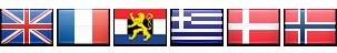 England, France, Benelux, Greece, Denmark, Norway