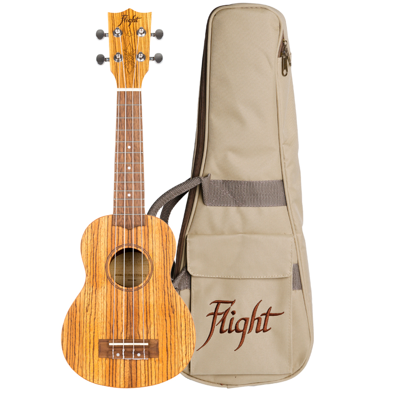 Укулеле сопрано Flight DUS322 Zebrawood
