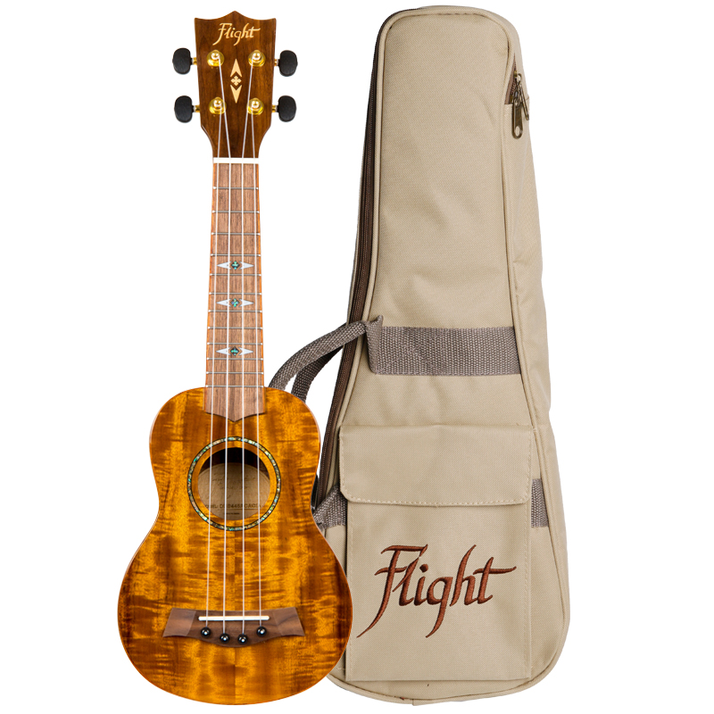 Flight DUS445 Acacia Brillante Ukelele Soprano
