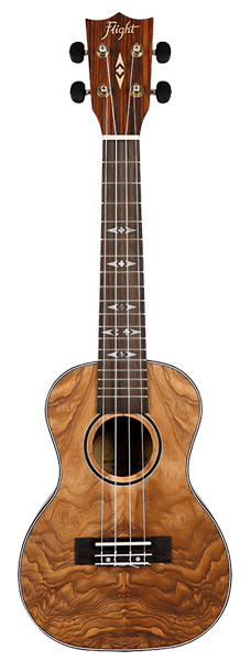 DUC410 QA Quilted Ash Concert Ukulele