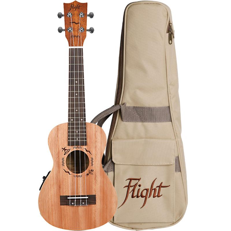 Flight DUC523CEQ Mahogany Electro-Acoustic Concert Ukulele