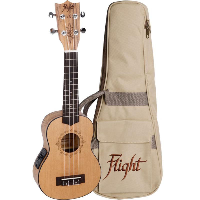 Flight DUS320CEQ SP/ZEB Electro-Acoustic Soprano Ukulele
