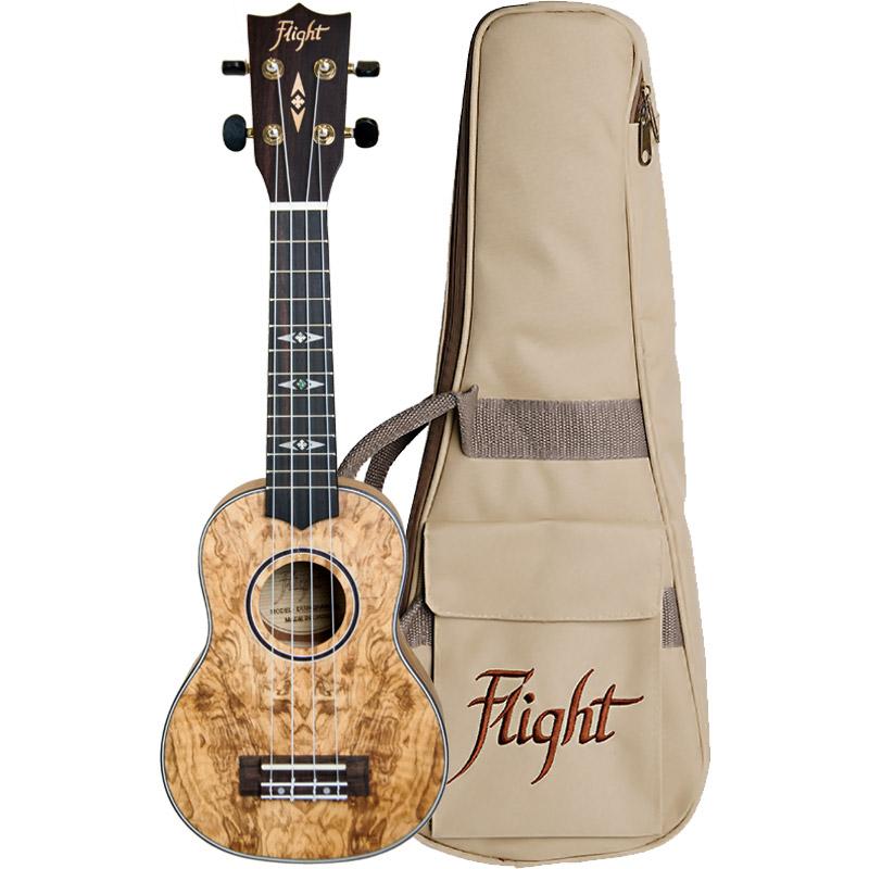 FLIGHT DUS410 QA Quilted Ash Soprano Ukulele