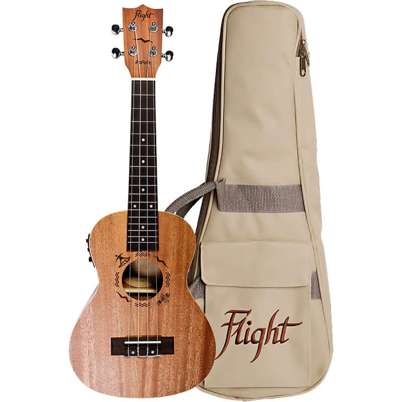 Flight DUC323 CEQ Mahogany Electro-Acoustic Concert Ukulele
