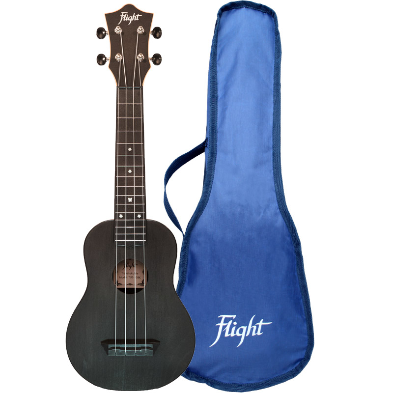 Flight TUS35 Travel Ukelele Soprano Negro