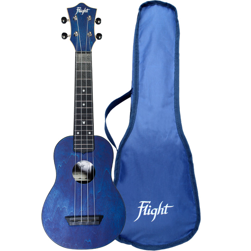 Flight TUS35 Travel Ukelele Soprano Azul Marino
