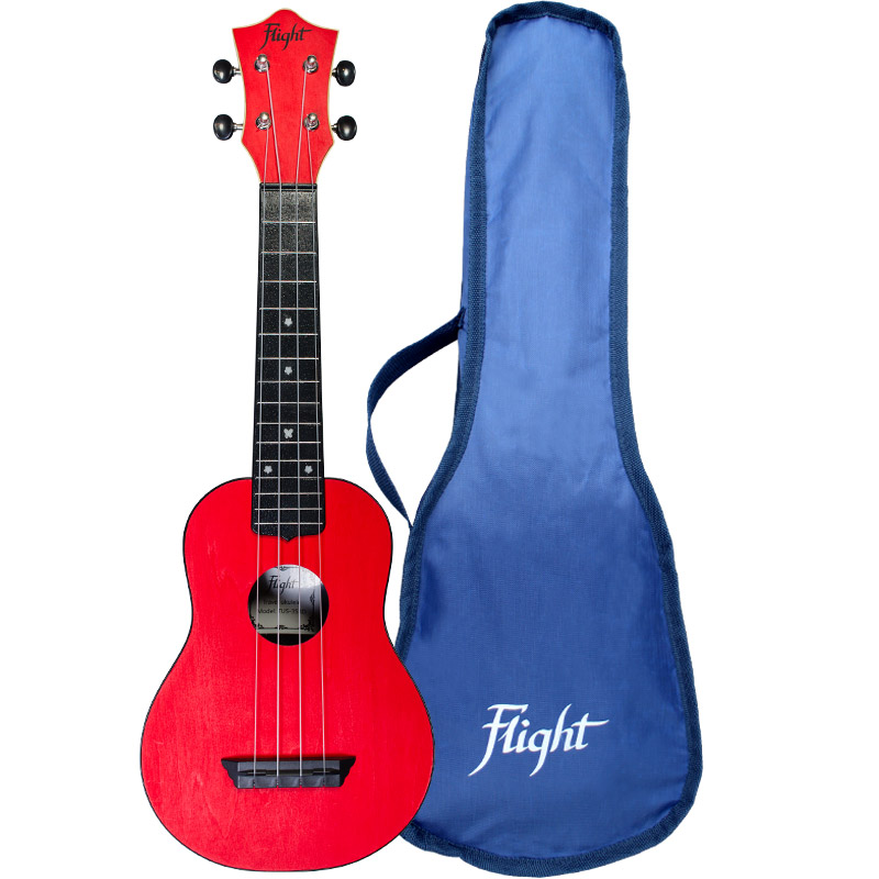 Flight TUS35 Travel Ukelele Soprano Rojo