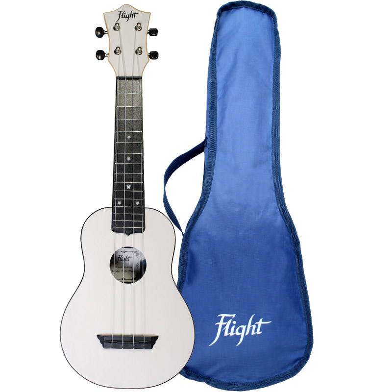 Flight TUS35 Travel Ukelele Soprano Blanco