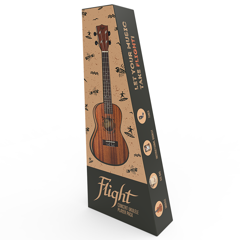 Flight NUC310 Concert Ukulele Pack