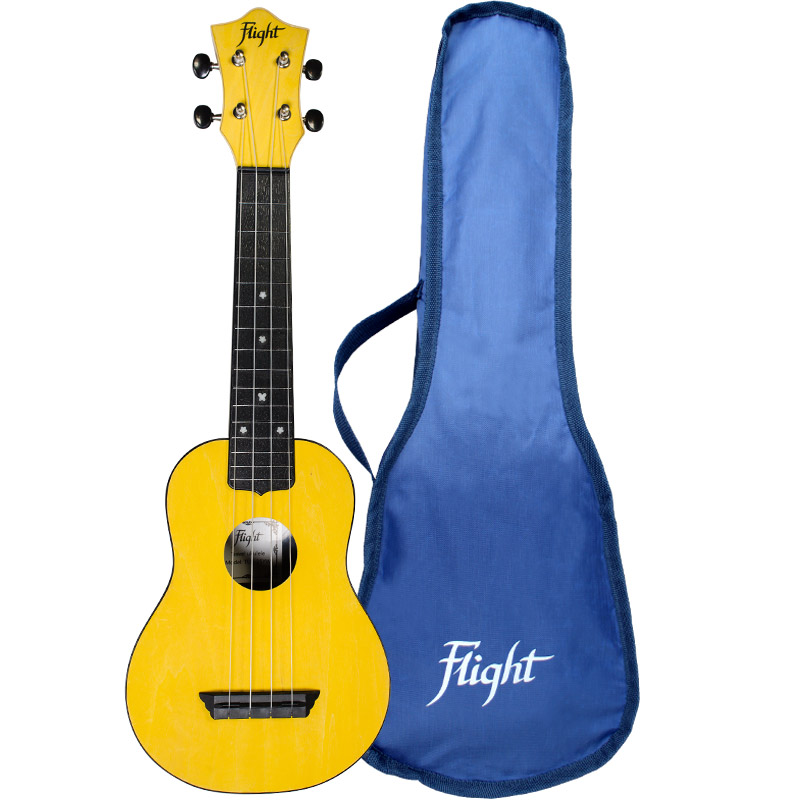 Flight TUS35 Travel Ukelele Soprano Amarillo