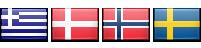Greece, Denmark, Norway, Sweden