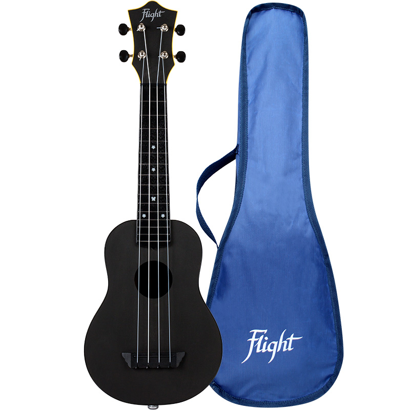 Flight TUS35E Electro-acoustic Black Travel Soprano Ukulele
