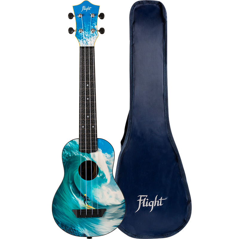 Flight TUSL25 Surf Travel Concert Scale Soprano Ukulele