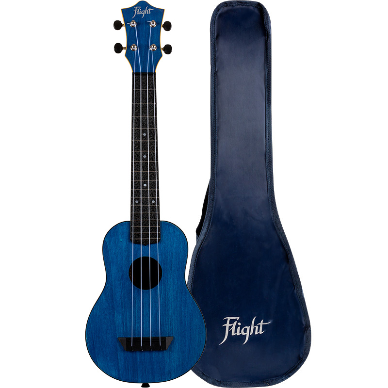 Flight TUSL35 Dark Blue Travel Concert Scale Soprano Ukulele