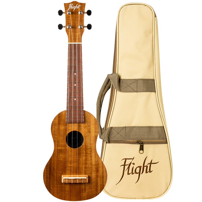 Flight WUS-4 Koa Soprano Ukulele (Made In USA)
