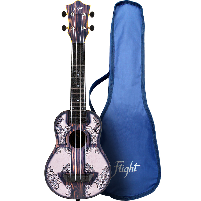 Flight TUS-40 Mandala Wood Travel Ukelele Soprano