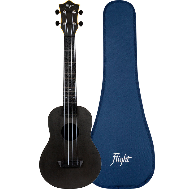 Flight TUC-35 Black Concert Travel Ukulele