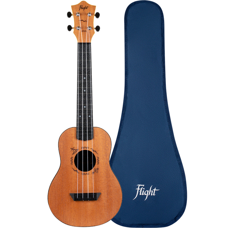 Flight TUC-53 MAH Travel Ukelele Concierto