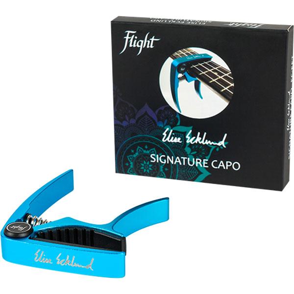 Каподастр для укулеле Flight FC-EET с подписью Элиз Эклунд, бирюзовый