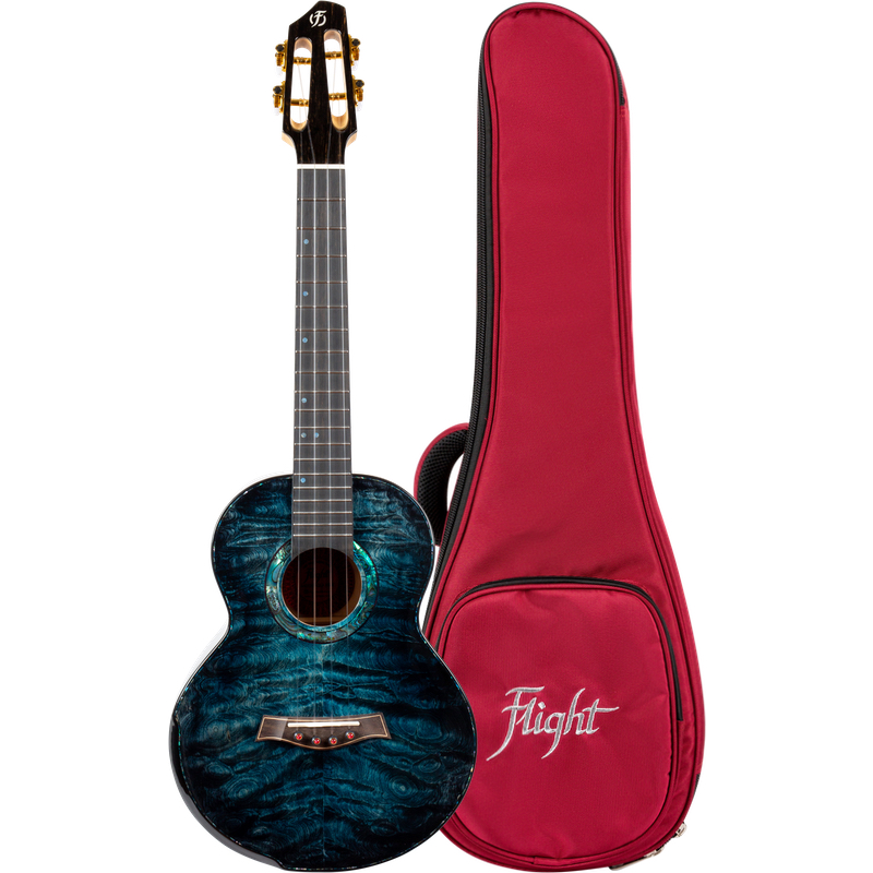 Flight A10-QM Aqua Blue 10th Anniversary Ukelele Tenor