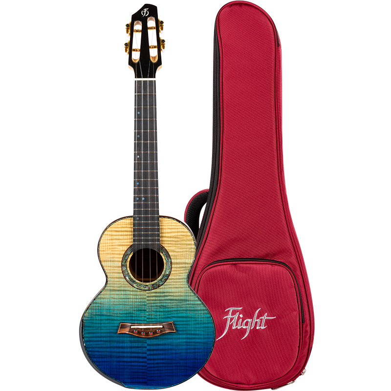 Flight A10-FM Faded Blue 10th Anniversary Ukelele Tenor